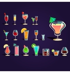 Popular alcoholic cocktails vector