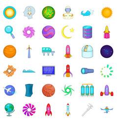 rocket icons set cartoon style vector image vector image
