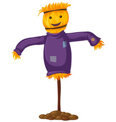 Scarecrow with happy smile vector