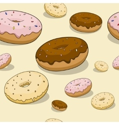 Seamless donut background vector image vector image