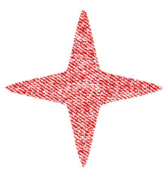 Sparkle star fabric textured icon vector