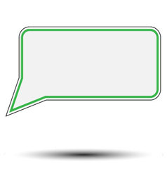 Sticker speech bubble vector image vector image