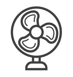 Table fan line icon household appliance vector