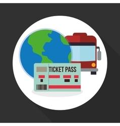 Travel design trip icon flat vector