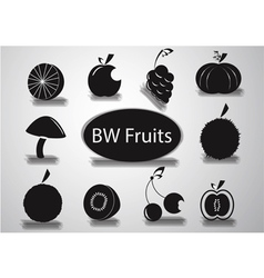 Black and white fruits logo vector