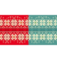 Christmas knitted seamless ornament vector