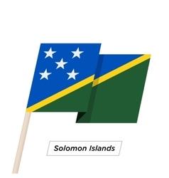 Solomon islands sharp ribbon waving flag isolated vector