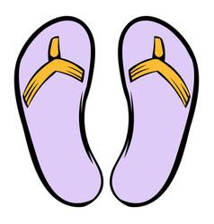 slippers icon icon cartoon vector image