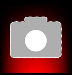 digital camera sign postage stamp or old photo vector image