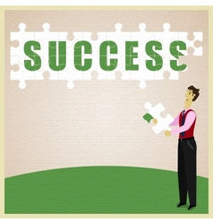 Puzzle Success vector image