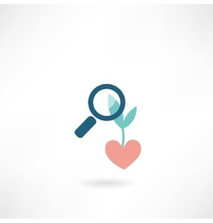 plant magnifier icon vector image