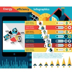 Energy efficiency infographics vector