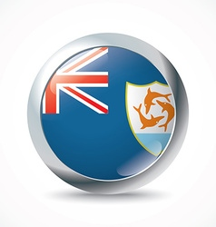 Anguilla flag button vector