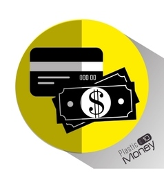 Plastic money and electronic payment vector