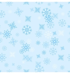 Seamless pattern snowflakes vector