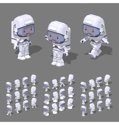 Low poly astronaut vector