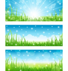 Set of summer abstract background vector
