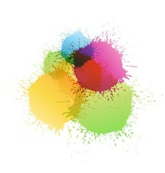 Color paint vector image
