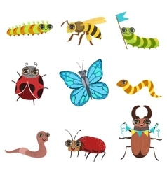 Insect Cartoon Images Set vector image