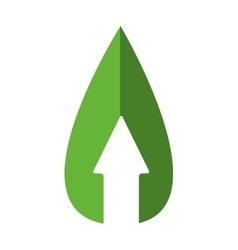 Arrow and drop icon eco and conservation design vector