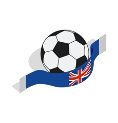 English football icon isometric 3d style vector