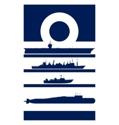 Abstract insignia navy admiral vector
