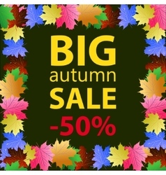 Big autumn sale design template poster vector