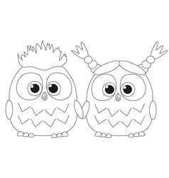 Black and white poster with an owl couple vector