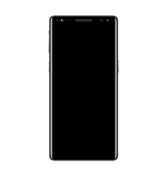 black smartphone isolated vector image vector image