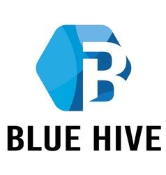 Blue hive logo vector