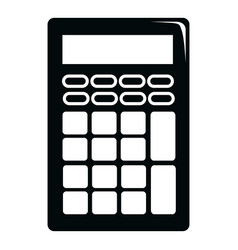 calculator icon simple black style vector image