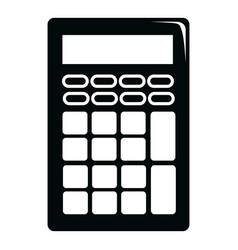 calculator icon simple black style vector image