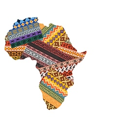 Cartoon of ornamental african continent vector