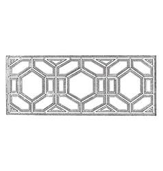 Ceiling design peruzzi vintage engraving vector