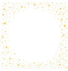 Christmas background with yellow stars vector