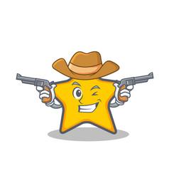 Cowboy star character cartoon style vector
