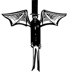 Demon in Top Hat vector image