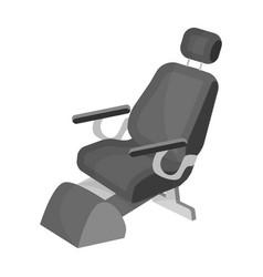 Dentist chair medicine single icon in monochrome vector
