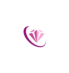 diamond jewelry fashion beauty logo vector image