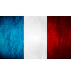 Grunge french flag vector