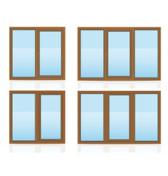 plastic window 10 vector image vector image