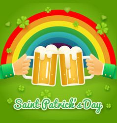 saint patrick day celebration success and vector image vector image