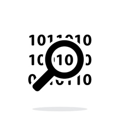 Security search icon on white background vector image vector image