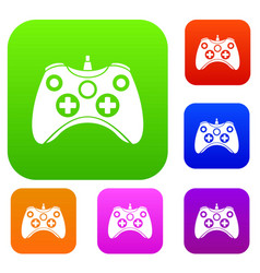 video game controller set collection vector image