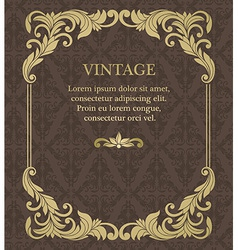 Vintage invitation border and frame template vector