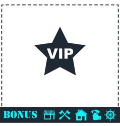 Vip star icon flat vector image