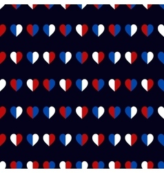 Hearts seamless pattern in usa national colors vector