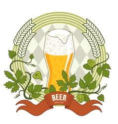 Beer label vector