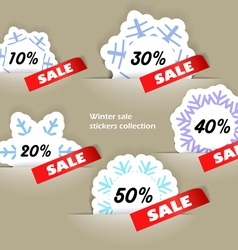 Christmas sale stickers in a pockers collection vector image