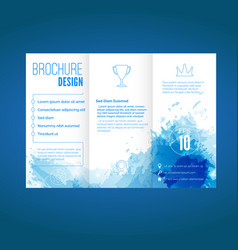 Modern brochure design with watercolor pattern vector